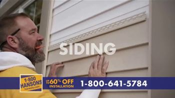 1-800-HANSONS TV Spot, 'Your Home: 60% Off and Virtual Estimate' - Thumbnail 4