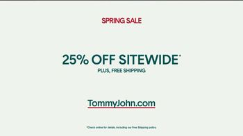 Tommy John Spring Sale TV Spot, '25 Percent Off and Free Shipping' - Thumbnail 8