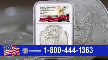 GovMint.com Emergency Production 2020 American Eagle Silver Dollars TV Spot, 'Important Factor'