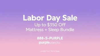 Purple Mattress Labor Day Sale TV Spot, 'Complete Relaxation: Up to $350' - Thumbnail 10