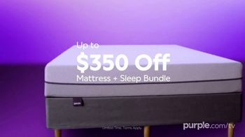 Purple Mattress Labor Day Sale TV Spot, 'Complete Relaxation: Up to $350' - Thumbnail 4