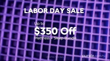 Purple Mattress Labor Day Sale TV Spot, 'Complete Relaxation: Up to $350' - Thumbnail 9