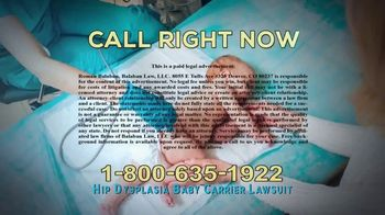 Balaban Law, LLC TV Spot, 'Hip Dysplasia Baby Carrier Lawsuit' - Thumbnail 9