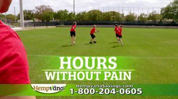 Hempvana Gold Pain Relief Cream TV Spot, 'The Tough Got Going: 50% Hempvana Gold' Featuring Mike Alstott - Thumbnail 6