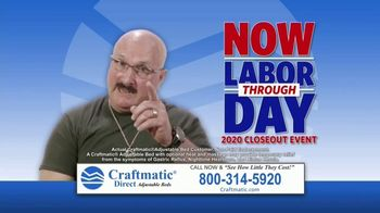 Craftmatic Now Through Labor Day Closeout Event TV Spot, 'They Didn't Believe Me'