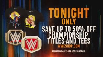WWE Shop TV Spot, 'Bring It On: 50% Off Championship Titles and Tees' - Thumbnail 7