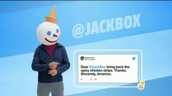 Jack in the Box Spicy Chicken Strips Combo TV Spot, 'So Many Tweets: $4.99' - Thumbnail 1