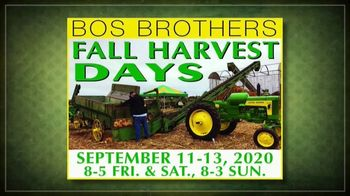Bos Brothers Historical Farm, Inc. TV Spot, 'Fall Harvest Days: Make Your Plans Now' - Thumbnail 1