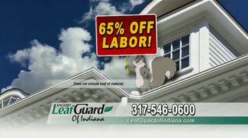 LeafGuard of Indiana TV Spot, 'Single Piece of Aluminum: 65% Off Labor' - Thumbnail 7