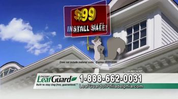 LeafGuard of Philadelphia $99 Install Sale TV Spot, 'Ladder-Related Accidents' - Thumbnail 3
