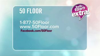 50 Floor TV Spot, 'Talk of the Town Extra: Free Installation' - Thumbnail 9