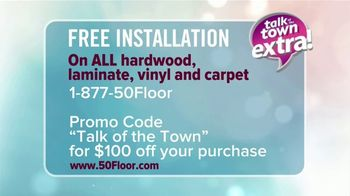 50 Floor TV Spot, 'Talk of the Town Extra: Free Installation' - Thumbnail 8