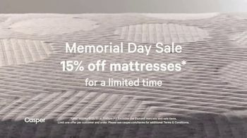 Casper Memorial Day Sale TV Spot, 'Enjoy 15 Percent Off' - Thumbnail 2