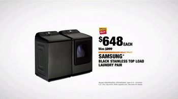 The Home Depot TV Spot, 'Summer Appliance Help: Black Samsung Laundry Pair: $648' - Thumbnail 9