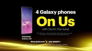 Sprint Best Unlimited Deal TV Spot, 'Galaxy S10+: Four for $100' - Thumbnail 4