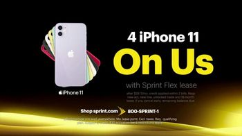Sprint Best Unlimited Deal TV Spot, 'More Important Than Ever: iPhone 11: Four Lines for $100' - Thumbnail 5