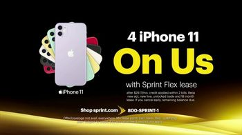 Sprint Best Unlimited Deal TV Spot, 'More Important Than Ever: iPhone 11: Four Lines for $100' - Thumbnail 6