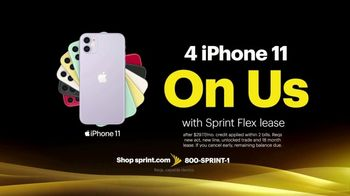Sprint Best Unlimited Deal TV Spot, 'iPhone 11: Four Lines for $100' - Thumbnail 4