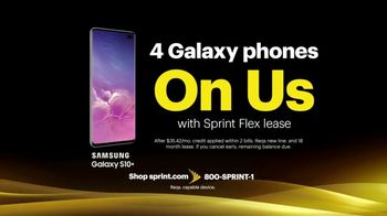 Sprint Best Unlimited Deal TV Spot, 'More Important Than Ever: Galaxy S10+: Four for $100' - Thumbnail 7