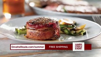Omaha Steaks Summer Stock Up Event TV Spot, 'Grilling Season: Free Dessert & Shipping'