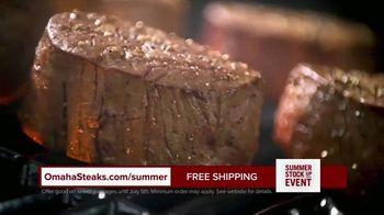 Omaha Steaks Summer Stock Up Event TV Spot, 'Grilling Season: Free Dessert & Shipping' - Thumbnail 8