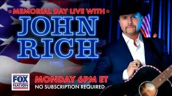 FOX Nation TV Spot, 'Memorial Day Live With John Rich'