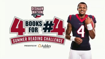Ashley HomeStore TV Spot, 'Deshaun Watson Foundation: Summer Reading Challenge'