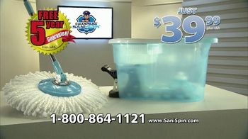 Clean Police Sani-Spin TV Spot, 'The Next Generation Mop: $39.99' - Thumbnail 8