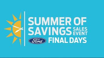 Ford Summer of Savings Sales Event TV Spot, 'Labor Day: Stop the Clock' [T2] - Thumbnail 2