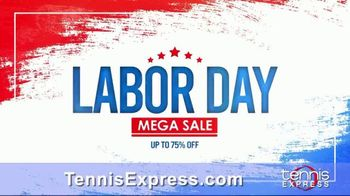 Tennis Express Labor Day Mega Sale TV Spot, 'Shoes, Clothes and Free Stringing' - Thumbnail 1