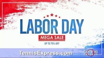 Tennis Express Labor Day Mega Sale TV Spot, 'Shoes, Clothes and Free Stringing' - Thumbnail 2