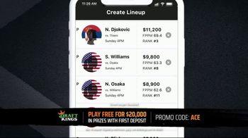 DraftKings TV Spot, 'Tennis Fans: $20,000 In Prizes' - Thumbnail 6