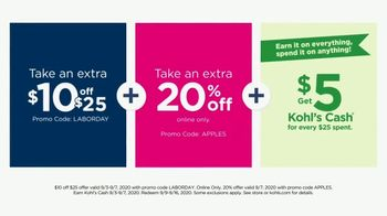 Kohl's Labor Day Weekend Sale TV Spot, 'Extra 20% off Monday' - Thumbnail 6