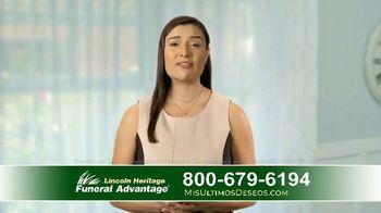 Lincoln Heritage Funeral Advantage TV Spot, 'Últimos deseos: Muy economico' [Spanish]