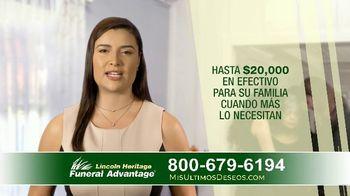 Lincoln Heritage Funeral Advantage TV Spot, 'Últimos deseos: Muy economico' [Spanish] - Thumbnail 7