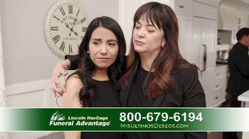 Lincoln Heritage Funeral Advantage TV Spot, 'Últimos deseos: Muy economico' [Spanish] - Thumbnail 8