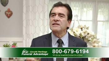Lincoln Heritage Funeral Advantage TV Spot, 'Últimos deseos: Muy economico' [Spanish] - Thumbnail 9