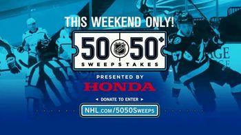 The National Hockey League 50-50+ Sweepstakes TV Spot, 'This Weekend'