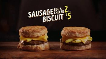 Bojangles' Sausage or Bacon, Egg & Cheese Biscuit TV Spot, 'Like a Powder Keg'