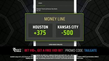 DraftKings Sportsbook TV Spot, 'Houston vs. Kansas City: Free $101 Bet' - Thumbnail 3
