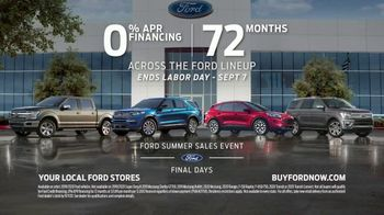 Ford Summer Sales Event TV Spot, 'Labor Day: Last Chance' Song by Kygo, Whitney Houston [T2] - Thumbnail 7