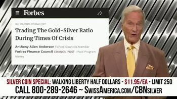 Swiss America Silver Coin Special TV Spot, 'Walking Liberty Half Dollars: Headlines' Feat. Pat Boone