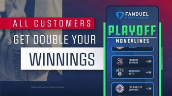 FanDuel TV Spot, 'It's NBA Playoff Time: Double Your Winnings If the Last Shot Is a Three' - Thumbnail 4