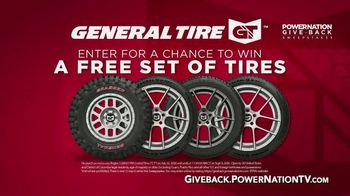 PowerNation Give Back Sweepstakes TV TV Spot, 'Free Set of Tires'