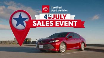 Toyota 4th of July Sales Event TV Spot, 'Go Time: Certified Used Vehicles' [T2] - Thumbnail 7