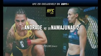 ESPN+ TV Spot, 'UFC 251: Andrade vs. Namajunas' Song by Vince Staples - 72 commercial airings