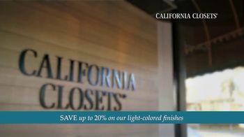 California Closets TV Spot, 'Every Visit: Save 20 Percent' - Thumbnail 1