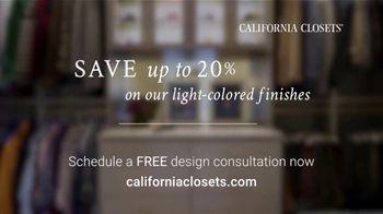 California Closets TV Spot, 'Every Visit: Save 20 Percent' - Thumbnail 9