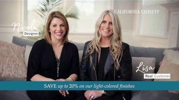 California Closets TV Spot, 'Every Visit: Save 20 Percent' - Thumbnail 4