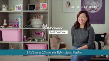 California Closets TV Spot, 'Every Visit: Save 20 Percent' - Thumbnail 6